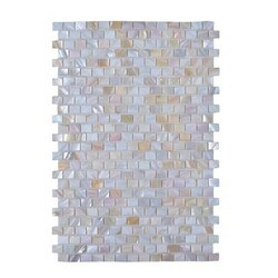 LEGION FURNITURE MS-SEASHELL06 MOSAIC WITH SEASHELL IN OFF WHITE