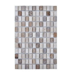 LEGION FURNITURE MS-STONE01 MOSAIC WITH STONE IN BEIGE AND BROWN