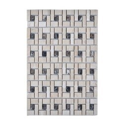 LEGION FURNITURE MS-STONE03 MOSAIC WITH STONE IN BEIGE AND BROWN