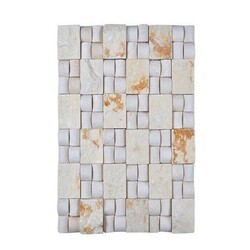 LEGION FURNITURE MS-STONE07 MOSAIC WITH STONE IN BEIGE AND OFF WHITE