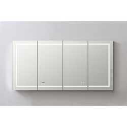 AQUADOM SR-7236 SIGNATURE ROYALE 72 INCH RECESSED OR SURFACE MOUNT MEDICINE CABINET WITH SINGLE DOOR,LED LIGHTING