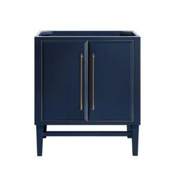 AVANITY MASON-V30-NBG MASON 30 INCH VANITY ONLY IN NAVY BLUE WITH GOLD TRIM