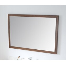 CHANS FURNITURE MIR-409NT47 COLLE 45 INCH WALL MIRROR IN AMERICAN WALNUT