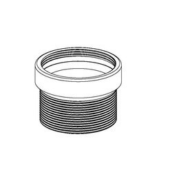 INFINITY DRAIN TNRN-4 4 INCH CAST IRON THREADED EXTENSION - USED FOR T15A AND T20A