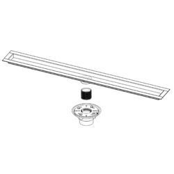 INFINITY DRAIN FCB 65 SS STAINLESS STEEL CHANNEL WITH 2 INCH OUTLET- TNAS