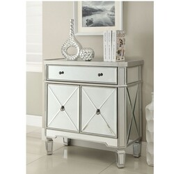 CHANS FURNITURE DH-228 32 INCH MIRRORED AMELIA CONSOLE