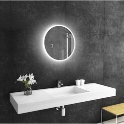 PARIS MIRRORS REFRND24246000D DIMMABLE 24 X 24 INCH REFLECTION ROUND BACKLIT MIRROR WITH TOUCH ON/OFF/DIM SENSOR ON MIRROR - 12V
