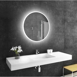 PARIS MIRRORS REFRND32326000D DIMMABLE 32 X 32 INCH REFLECTION ROUND BACKLIT MIRROR WITH TOUCH ON/OFF/DIM SENSOR ON MIRROR - 12V