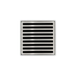 INFINITY DRAIN ND 4-2 4 X 4 INCH STRAINER-LINES PATTERN AND 2 INCH THROAT WITH DRAIN BODY WITH 2 INCH OUTLET