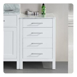 DESIGN ELEMENT DEC076MCAB-W LONDON 20 INCH CABINET IN WHITE