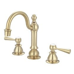 WATER-CREATION F2-0012-06-TL HIGH ARC SATIN BRASS TORCH LEVER HANDLE TRUE BRASS LAVATORY FAUCET