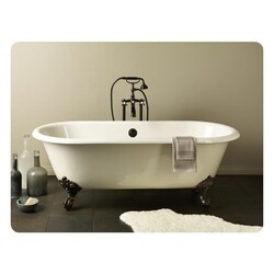 CHEVIOT 2110-WC-6 REGAL 68 INCH CAST IRON BATHTUB WITH 6 INCH FAUCET HOLE DRILLINGS