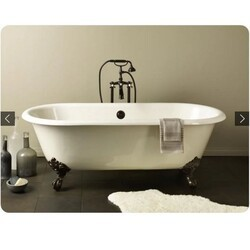 CHEVIOT 2111-BC REGAL 68 INCH CAST IRON BATHTUB WITH CONTINUOUS ROLLED RIM