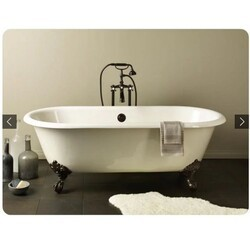 CHEVIOT 2111-WC REGAL 68 INCH CAST IRON BATHTUB WITH CONTINUOUS ROLLED RIM