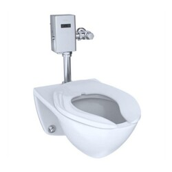 TOTO CT708UX#01 COMMERCIAL WALL MOUNT ULTRA HIGH-EFFICIENCY ELONGATED FLUSHOMETER TOP SPUD TOILET, RECLAIMED WATER OPTION