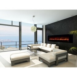 MODERN FLAMES AL100CLX2-G AMBIANCE CLX2 100 INCH WITH BLACK GLASS FACE (2X4 RECESS OR WALL MOUNT)