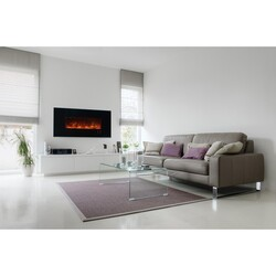 MODERN FLAMES AL60CLX2-G AMBIANCE CLX2 60 INCH WITH BLACK GLASS FACE (2X4 RECESS OR WALL MOUNT)