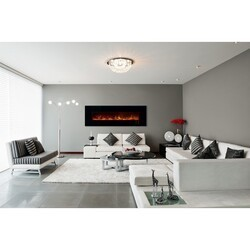 MODERN FLAMES AL80CLX2-G AMBIANCE CLX2 80 INCH WITH BLACK GLASS FACE (2X4 RECESS OR WALL MOUNT)
