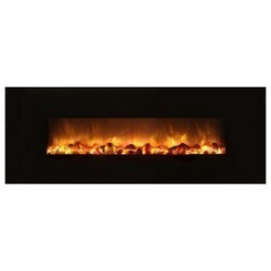 MODERN FLAMES SF40/BILV BUILDER LINEAR SLIM 40 INCH WITH  BLACK GLASS FACE (2X4 RECESS OR WALL MOUNT)