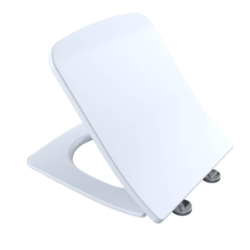 TOTO SS249R#01 SOFTCLOSE SLIM SQUARE CLOSED FRONT TOILET SEAT AND COVER IN COTTON