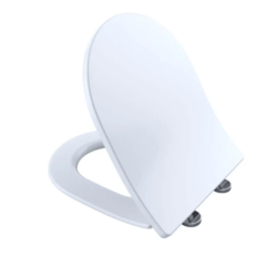 TOTO SS247R#01 SLIM D-SHAPE SOFTCLOSE SEAT FOR RP WALL HUNG TOILET BOWL IN COTTON