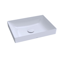 TOTO LT476GR#01 KIWAMI 24 INCH RECTANGULAR VESSEL LAVATORY SINK IN COTTON WITH CEFIONTECT