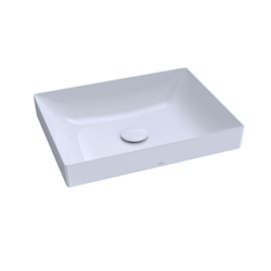 TOTO LT475GR#01 KIWAMI 20 INCH RECTANGULAR VESSEL LAVATORY SINK IN COTTON WITH CEFIONTECT