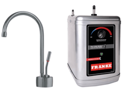FRANKE LB7180-3HT AMBIENT FAUCET SET WITH LB7180 HOT WATER DISPENSER AND HT-300 LITTLE BUTLER HEATING TANK IN SATIN NICKEL