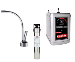 FRANKE LB9200-FRC-3HT LOGIK FAUCET SET WITH LB9200 HOT AND COLD WATER DISPENSER, FRCNSTR FILTER CANISTER AND HT300 LITTLE BUTLER HEATING TANK IN CHROME