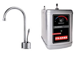 FRANKE LB6100-3HT FARM HOUSE HOT WATER FAUCET WITH HT300 LITTLE BUTLER HEATING TANK IN CHROME