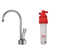 FRANKE LB7200-100-3HT-FM AMBIENT FILRATION FAUCET LB7200 SET WITH FRCNSTR100 FILTER CANISTER IN CHROME