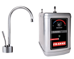 FRANKE LB7100-3HT AMBIENT FAUCET SET WITH LB7100 HOT WATER DISPENSER AND HT-300 LITTLE BUTLER HEATING TANK IN CHROME
