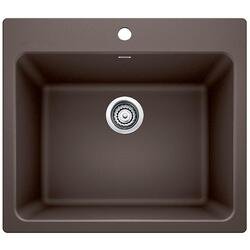 BLANCO 401922 LIVEN GRANITE 25 INCH LAUNDRY SINK IN CAFE BROWN