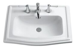 TOTO LT781.4 CLAYTON 25 INCH LAVATORY WITH 4 INCH FAUCET CENTERS