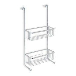 STILHAUS 785 WIRE OVER-THE-DOOR CHROME WIRE DOUBLE SHOWER BASKET