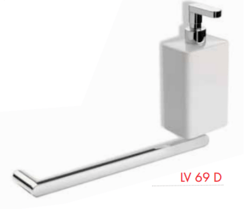 STILHAUS LV69D LIVING AND CHROME TOWEL RAIL AND SOAP DISPENSER