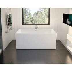 FLEURCO BAC5731-18 ACCOUSTIC 57 INCH RECTANGULAR BATHTUB IN WHITE WITH DRAIN COVER