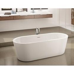 FLEURCO BAD6831-18 ADAGIO 69 INCH OVAL BATHTUB IN WHITE WITH DRAIN COVER