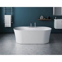 FLEURCO BAL6731-18 ALTO GRANDE 67 INCH OVAL BATHTUB IN WHITE WITH DRAIN COVER