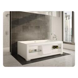 FLEURCO BBA6039-18 BALLAD 60 INCH RECTANGULAR BATHTUB IN WHITE