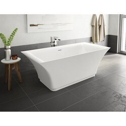 FLEURCO BBR6631-18 BRAVURA 66 INCH RECTANGULAR BATHTUB IN WHITE WITH DRAIN COVER