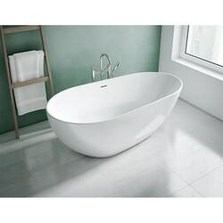 FLEURCO BBU6733-18 BURLETTA 67 INCH OVAL BATHTUB IN WHITE WITH DRAIN COVER
