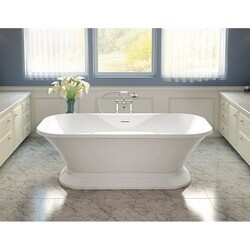 FLEURCO BFO7035-18 FORTISSIMO 71 INCH SPECIALTY BATHTUB IN WHITE WITH DRAIN COVER