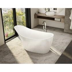FLEURCO BMO6431-18 MOLTO 65 INCH SPECIALTY BATHTUB IN WHITE WITH DRAIN COVER