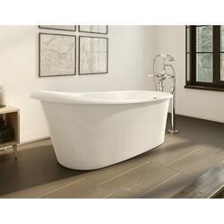 FLEURCO BOP6329-18 OPERETTA 63 INCH OVAL BATHTUB IN WHITE WITH DRAIN COVER