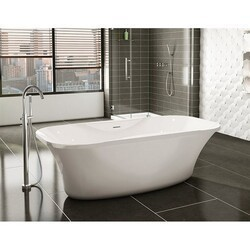 FLEURCO BPR7035-18 PRELUDE 71 INCH RECTANGULAR BATHTUB IN WHITE WITH DRAIN COVER