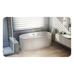 FLEURCO BST6732-18 STANZA 67 INCH OVAL BATHTUB IN WHITE