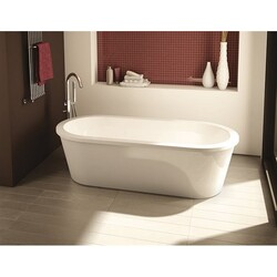 FLEURCO BTR6032-18 TRANQUILITY 61 INCH OVAL BATHTUB IN WHITE WITH DRAIN COVER
