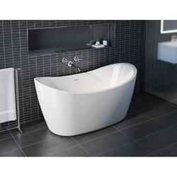 FLEURCO BZAR5931-18 ARPEGGIO PETITE 59 INCH SPECIALTY BATHTUB IN WHITE WITH DRAIN COVER