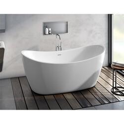 FLEURCO BZAR6731-18 ARPEGGIO GRANDE 67 INCH SPECIALTY BATHTUB IN WHITE WITH DRAIN COVER